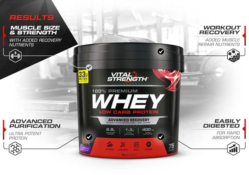 100% Whey Protein Powder Features 3kg