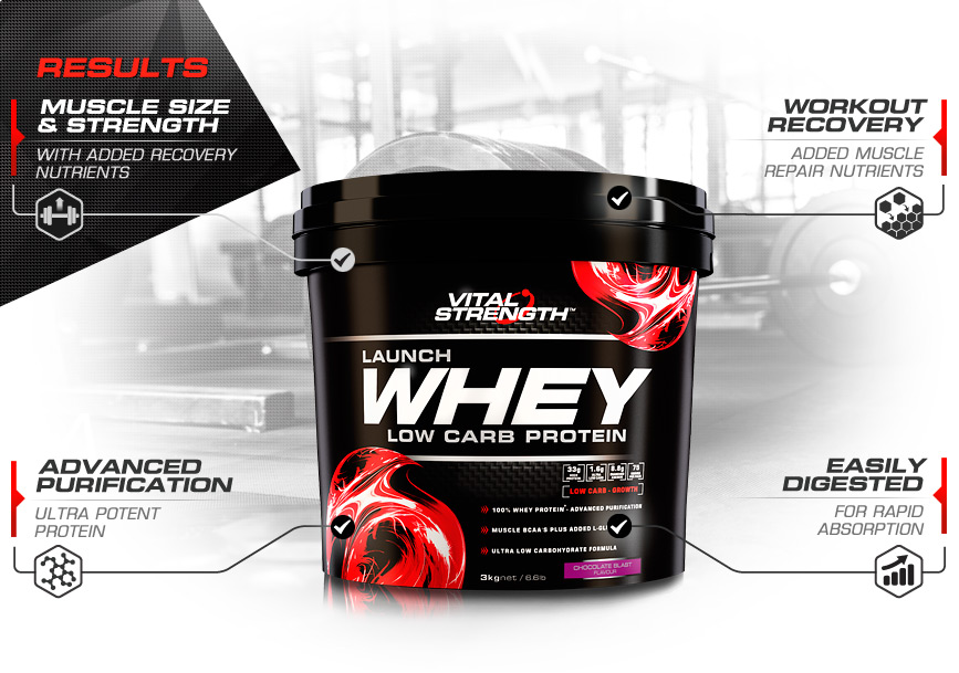 100% Whey Protein Powder Features 3kg
