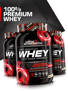 100% Whey Protein Powder 1kg | Vitalstrength