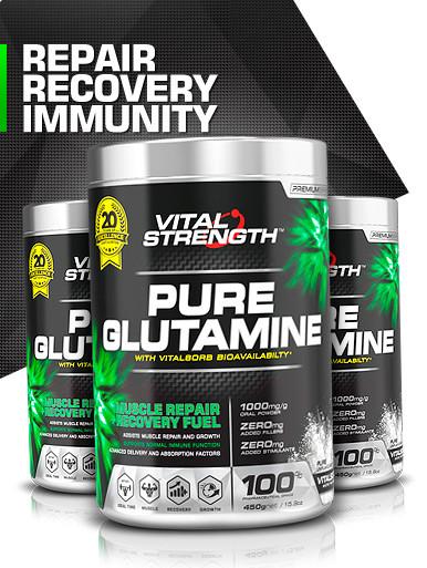 100% Glutamine Powder 450g