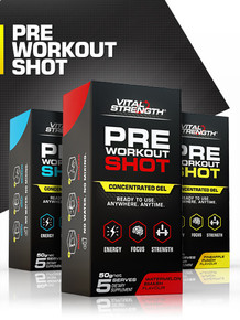 Pre Workout Shots - 5 Pack