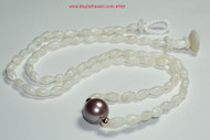 "19 1/2"" Pearl white Laiki & Edison pearl necklace #769"