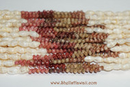 """39"""" of 10 strands Laiki & Kahelelani shell lei/necklace from Niihau"""