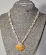 "19.5"" Momi & Sunrise shell necklace from Kauai #302"