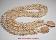 Matching set Niihau Momi shell lei and earrings #805
