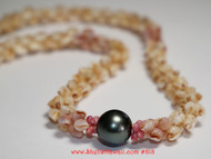 Momi & Tahitian pearl necklace #818