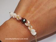 """6 3/4"""" Momi and Tahitian pearl bracelet #109"""