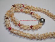 Momi, Kahelelani & Tahitian pearl necklace #898
