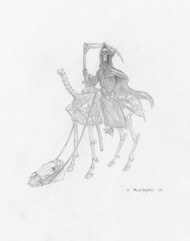 Skeletal Steed – Early concept drawing