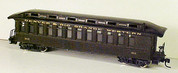HOn3 D&RGW open platform Passenger Car MRGS kit #3311 plastic w/resin roof