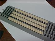 Railroad Crossing for Lionel O 3-rail Straight Fastrack