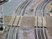 #9100 Railroad Grade Crossing for Lionel O Fastrack 3-rail Straight Fastrack