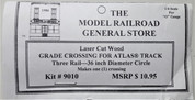 "Atlas O 3-rail 36"" Railroad Crossing for curved sectional track"