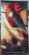SPIDERMAN SPIDER MAN VINYL BUILDING BANNER 2002 Twin Towers Version