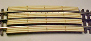 "Atlas O 3 rail XX"" Railroad Crossing for curved sectional track"