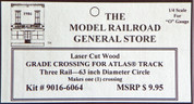 "Atlas O 3-rail 63"" Railroad Crossing for curved sectonal track"