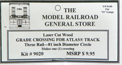 "Atlas O 3-rail 81"" Railroad Crossing for curved sectonal track"
