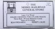 "Atlas O 3-rail 99"" Railroad Crossing for curved sectional track"