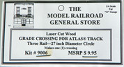 "Atlas O 3 rail 27"" Railroad Crossing for curved sectional track"