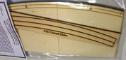 "#9108R Railroad Grade Crossing Ramp for Lionel Fastrack 3-rail 31""curve, laser cut"