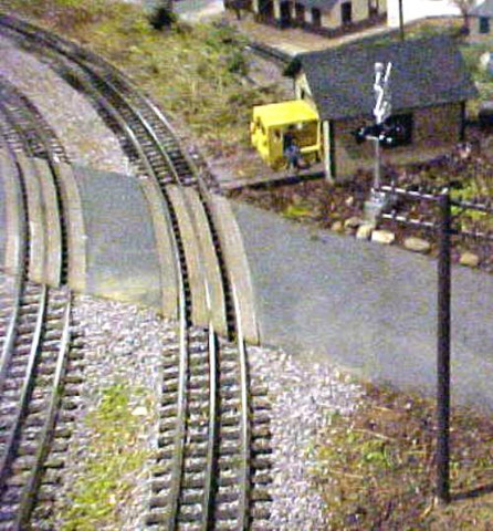 """Two sets of  48"""" Curved crossing for Lionel Fastrack Sectional Track."""