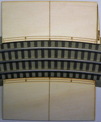 """#9115R Railroad Grade Crossing Ramp for Lionel Fastrack 3-rail 48""""D curved  sectional"""