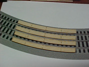 "#9118 Railroad Grade Crossing for Lionel O Fastrack 3-rail 72"" curved FasTrack sectional track"