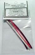 Heat Shrink Mini Tube Package 3/64 in dia. 2 each, 3 colors (Red/Black/White)