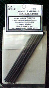 Heat Shrink Mini Tube Package Black in dia. 2 each, 4 diameters, 3/64, 1/16. 3/32, 1/8  Shrink ratio 2:1