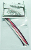 Heat Shrink Mini Tube Package 3/32 in dia. 2 each, 3 colors (Red/Black/White)