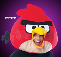 Angry Birds Mobile Cloth Mascot Style Red Halloween Costume Mask Cartoon Game