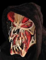 Red Exposed Muscle Alien Predator Creature Skull Halloween Costume Mask
