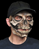 Adult Skull with attached Baseball Cap w/ Moving Mouth Halloween Costume Mask