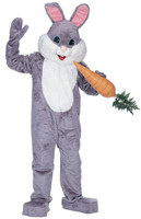 Adult Premium Grey Easter Bunny Rabbit Reantal Quality Mask & Costume