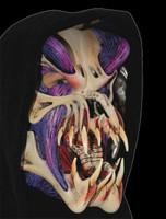 Purple Exposed Muscle Alien Predator Creature Skull Halloween Costume Mask