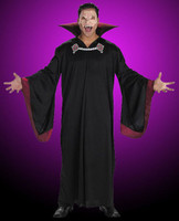 Adult Gothic Quality Evil Vampire Robe Attached Collar Dracula alloween Costume