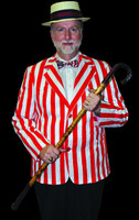Adult Roaring 20's Red White Striped Blazer Halloween Costume Accessory