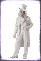Adult Deluxe Quality Gothic Ghostly Gentleman Spirit Ghost Halloween Costume