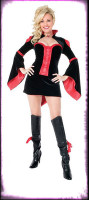Gothic Sexy Playboy Vamptease Vampiress Dress w/ Accessories Halloween Costume