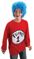 Whisical Dr Seuss Thing 1 or 2 Halloween Complete Costume Suit Adult Sm/Med
