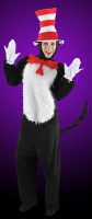 Deluxe Whisical Dr Seuss Cat In The Hat Halloween Complete Costume Suit