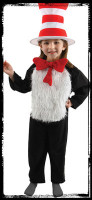 Deluxe Child 8-10 Dr Seuss Cat In The Hat Halloween Complete Costume Suit