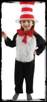Deluxe Child 4-6 Dr Seuss Cat In The Hat Halloween Complete Costume Suit