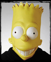 Bart Simpson Simpsons Cartoon Halloween Mask Costume