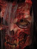 Whispers Bloody Devil Skull Halloween Mask Costume