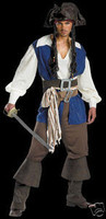 Pirates Caribbean Jack Sparrow Halloween Teen Costume
