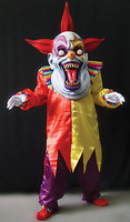 Oversized Red Yellow Evil Clown Halloween Mask Costume