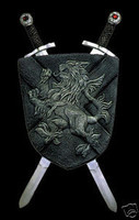 Midieval Shield & Swords Halloween Prop Decoration