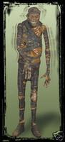 Life Size Shivering Mummy Halloween Prop Decoration