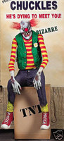 Life Size Animated Chuckles Clown Halloween Prop Decor